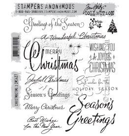 Stampers Anonymous Christmastime #3 - Cling Set
