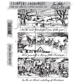 Stampers Anonymous Holiday Scenes - Cling Set