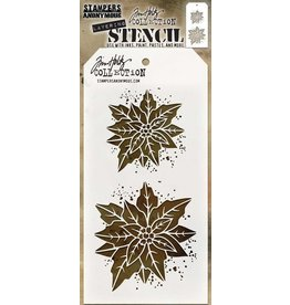 Stampers Anonymous Poinsettia Duo Layered Stencil