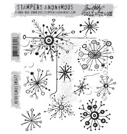 Stampers Anonymous Retro Flakes - Cling Set