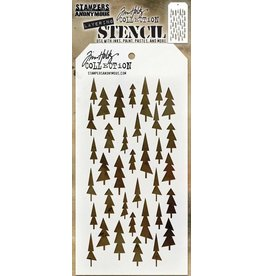 Stampers Anonymous Tree Lot Layered Stencil