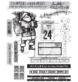 Stampers Anonymous Vintage Holidays- Cling Set