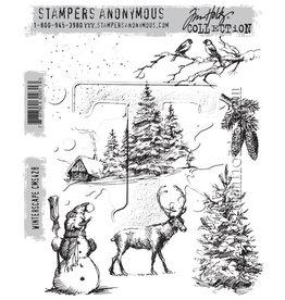 Stampers Anonymous Winterscape - Cling Set