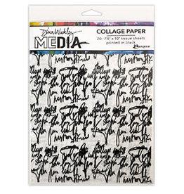 Dina Wakley Media DWM Collage Paper Just Words