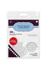 "Scrapbook Adhesives 3D Foam Squares .25""X.25"" White"