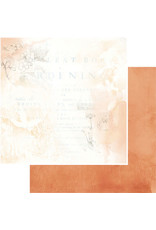 49 AND MARKET 12X12 Patterned Paper, Vintage Artistry Wedgewood - Sunset