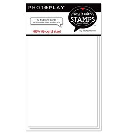 PHOTOPLAY PhotoPlay Say It With Stamps Scored Card