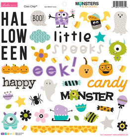 BELLA BLVD Monsters & Friends Chipboard Icons
