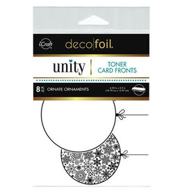 iCraft Deco Foil Toner Card Fronts, Ornate Ornaments (White)