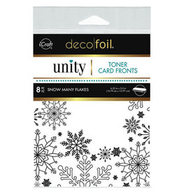 iCraft Deco Foil Toner Card Fronts, Snow Many Flakes (White)