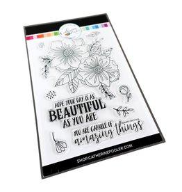 Catherine Pooler Designs Beautiful Day Bundle Beautiful Day Floral Stamp Set