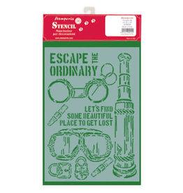 Stamperia Thick Stencil - Lady Vagabond Escape The Ordinary