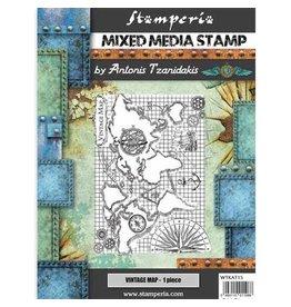 Stamperia Stamp - Sir Vagabond Vintage Map