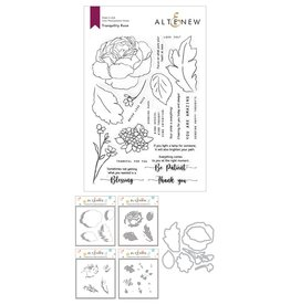 ALTENEW Tranquility Rose Stamp & Die & Coloring Stencil Bundle