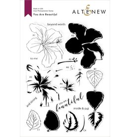 ALTENEW You Are Beautiful Stamp & Die & Coloring Stencil Bundle