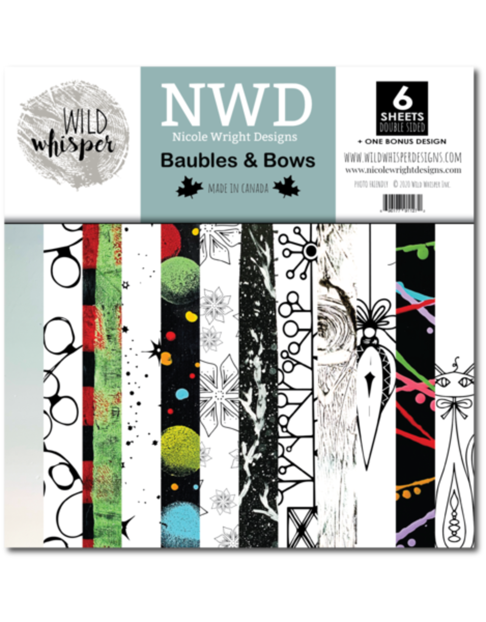 Wild Whisper Designs Baubles & Bows - 12x12 Paper Pack