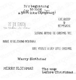 Stamping Bella Cling Stamp, Merry Slothmas Sentiment Set