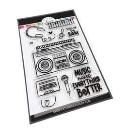Catherine Pooler Designs Club Canvo Turn Up the Beat Stamp Set
