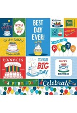 Echo Park 12X12 Patterned Paper, Let's Celebrate - Journaling Cards