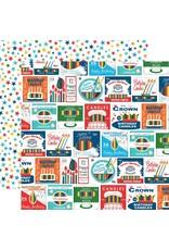 Echo Park 12X12 Patterned Paper, Let's Celebrate - Vintage Candle Packets