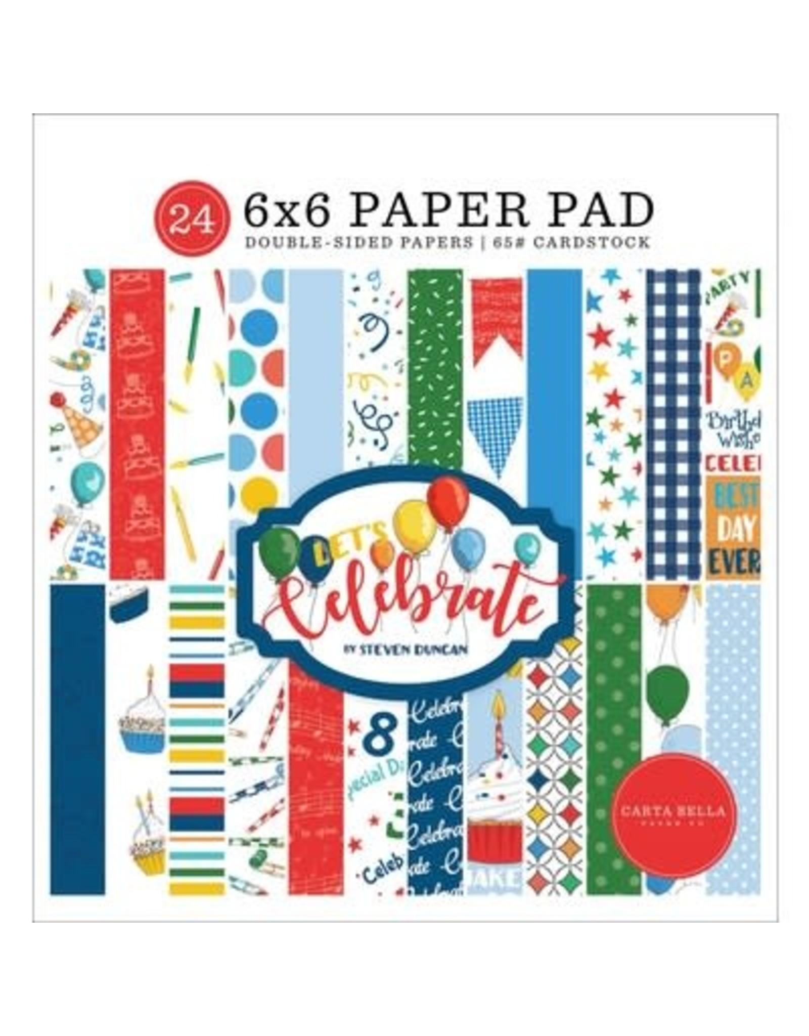 Echo Park 6X6 Paper Pad, Let's Celebrate