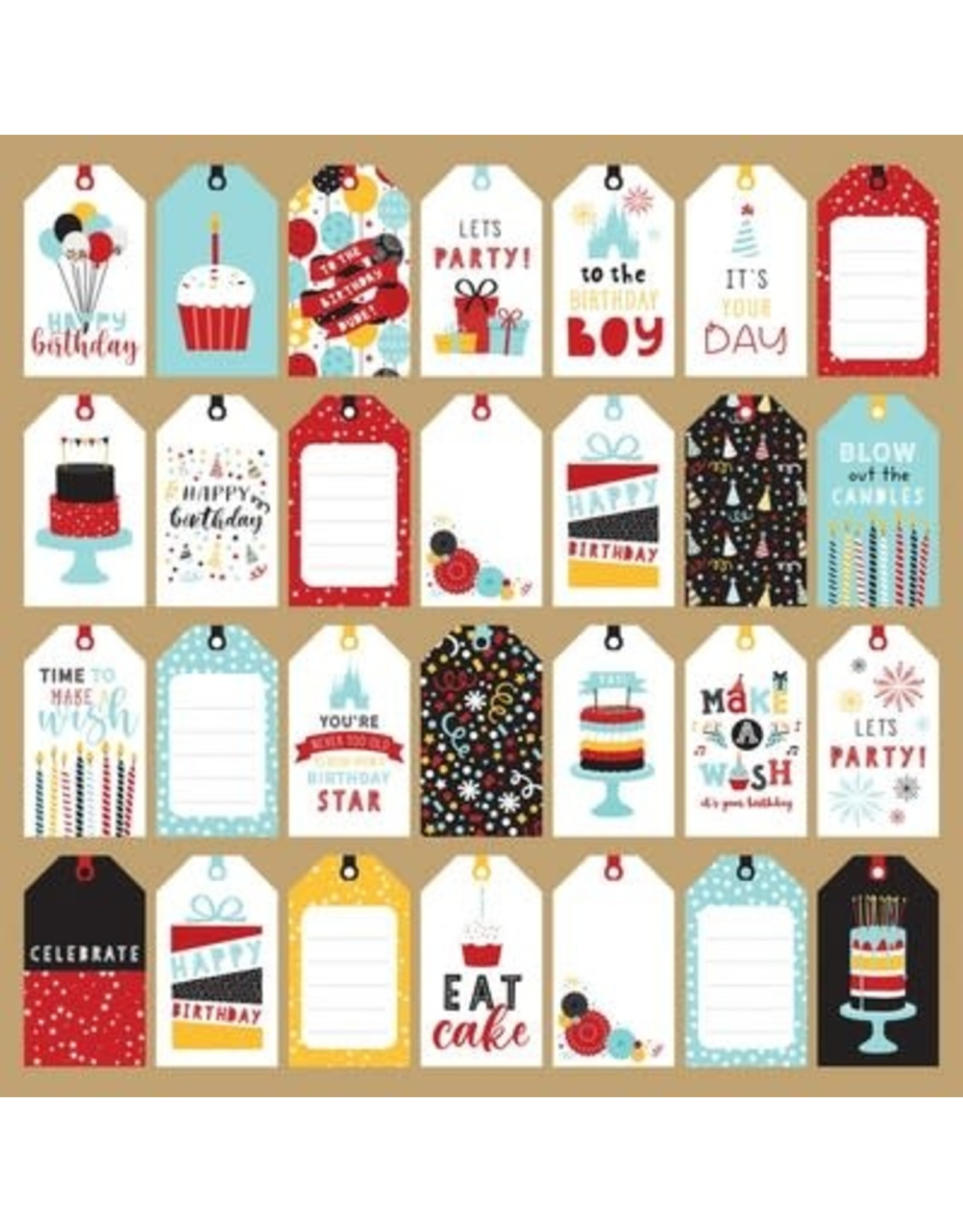 Echo Park 12X12 Patterned Paper, Magical Birthday Boy - Tags