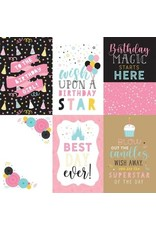 Echo Park 12X12 Patterned Paper, Magical Birthday Girl - 4X6 Journal Card