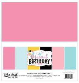 Echo Park 12X12 Solids Kit, Magical Birthday Girl