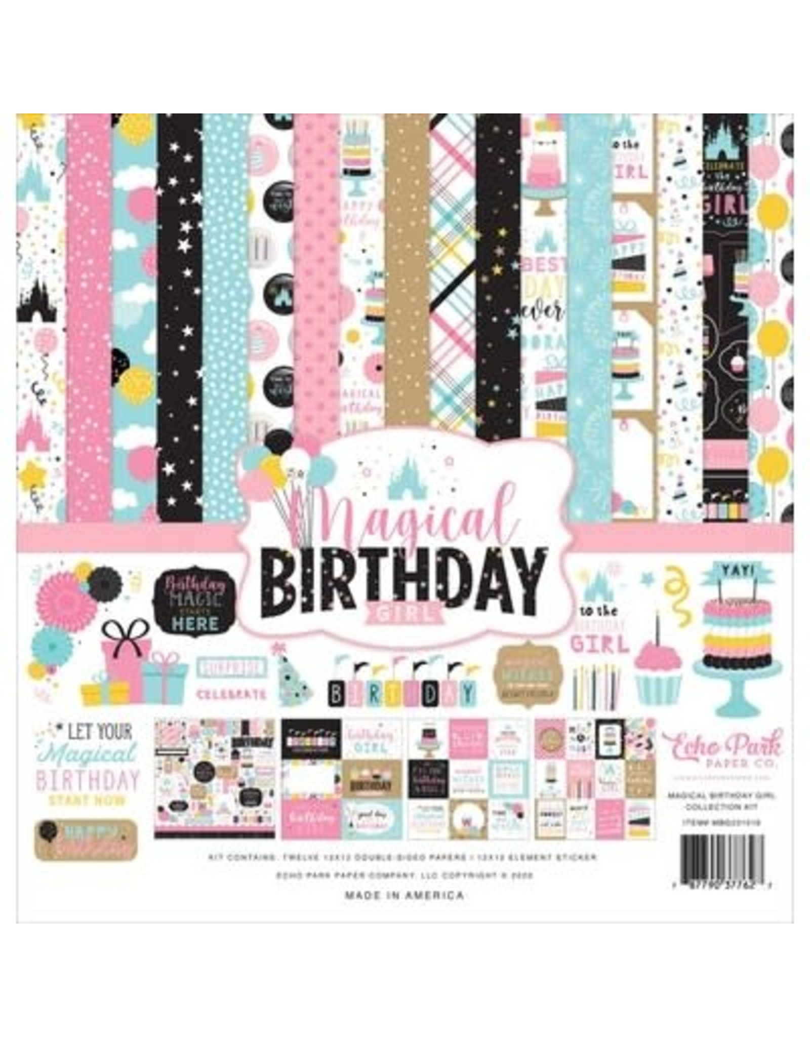 Echo Park 12X12 Collection Kit, Magical Birthday Girl