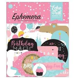 Echo Park Ephemera, Magical Birthday Girl