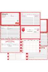 PHOTOPLAY 12X12 Recipe Card Paper, Happy Fruit - Red