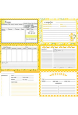 PHOTOPLAY 12X12 Recipe Card Paper, Happy Fruit - Yellow