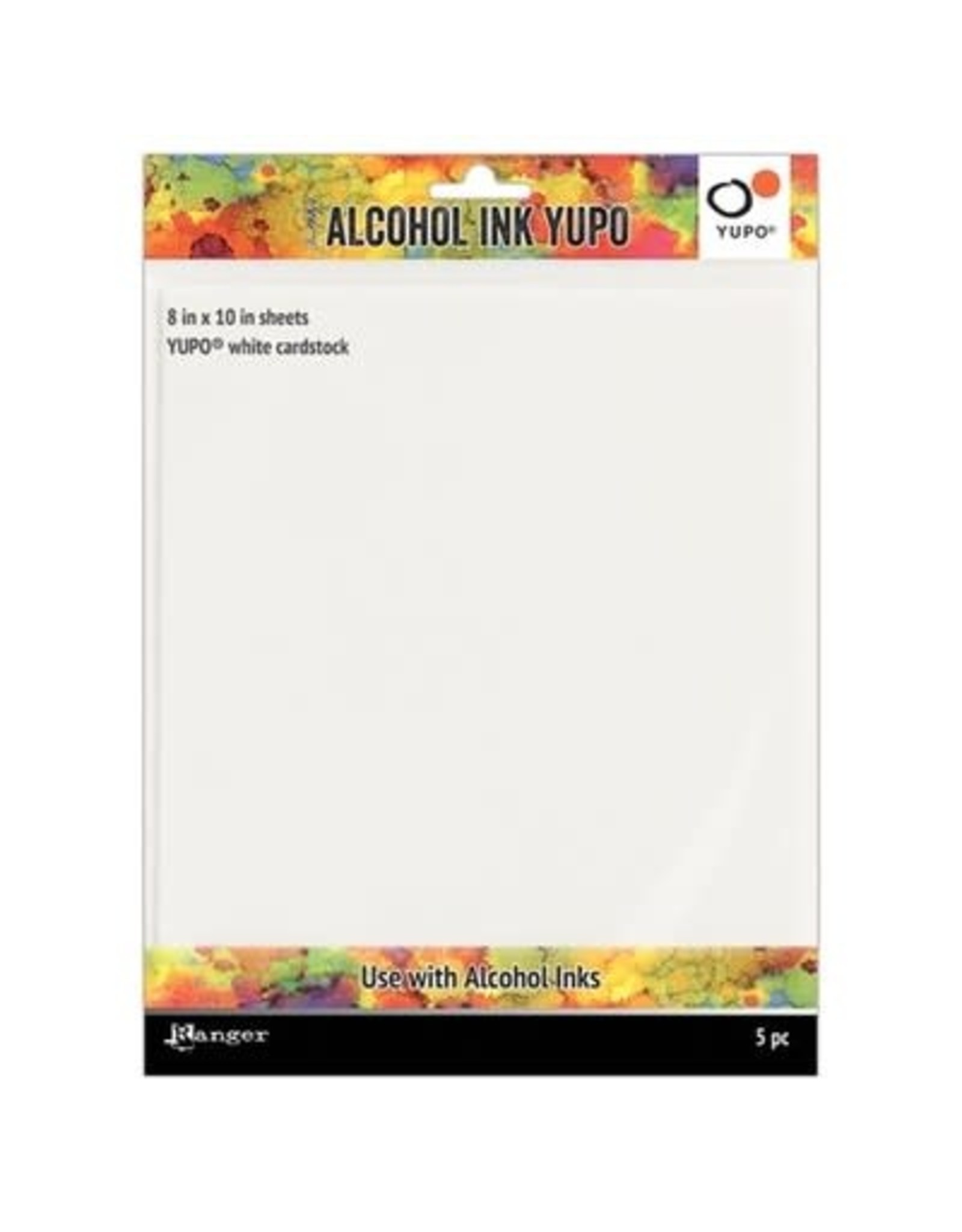 """Tim Holtz Alcohol Ink Yupo Paper, White - 8x10"""" (86lbs 5 Pack)"""