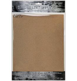 Tim Holtz Distress 8.5X11 Heavystock, Kraft (10 Pack)