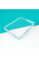 "Catherine Pooler Designs Acrylic Grid Stamping Block 3-1/4 x 4-1/4"""