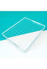 "Catherine Pooler Designs Acrylic Grid Stamping Block 4-7/8 x 6-1/8"""