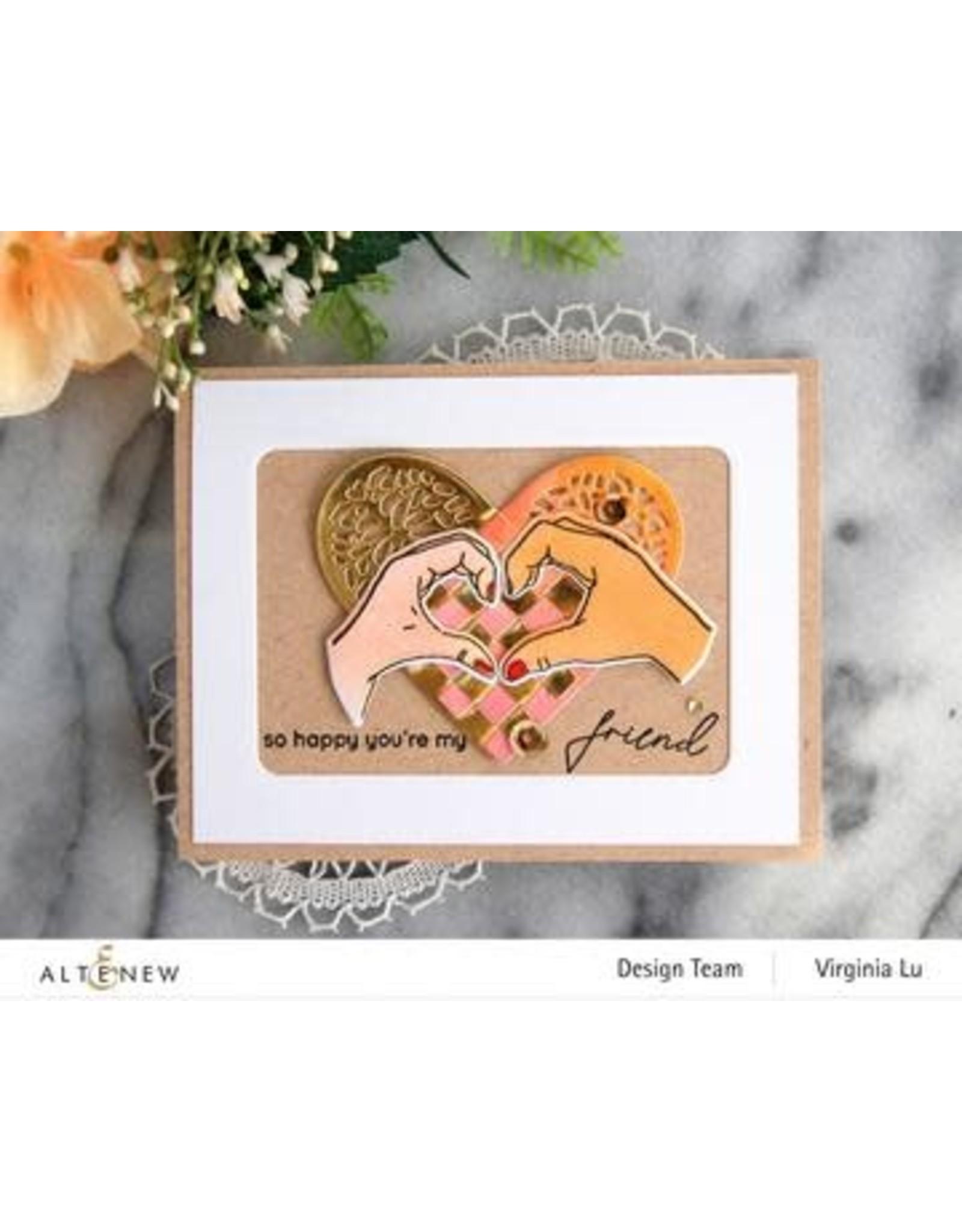 ALTENEW A Little Bit of Love Stamp & Die & Coloring Stencil Bundle