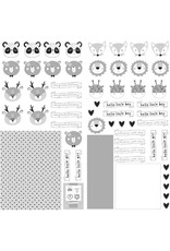 PHOTOPLAY 12X12 Die Cut Paper, Little One - Animals