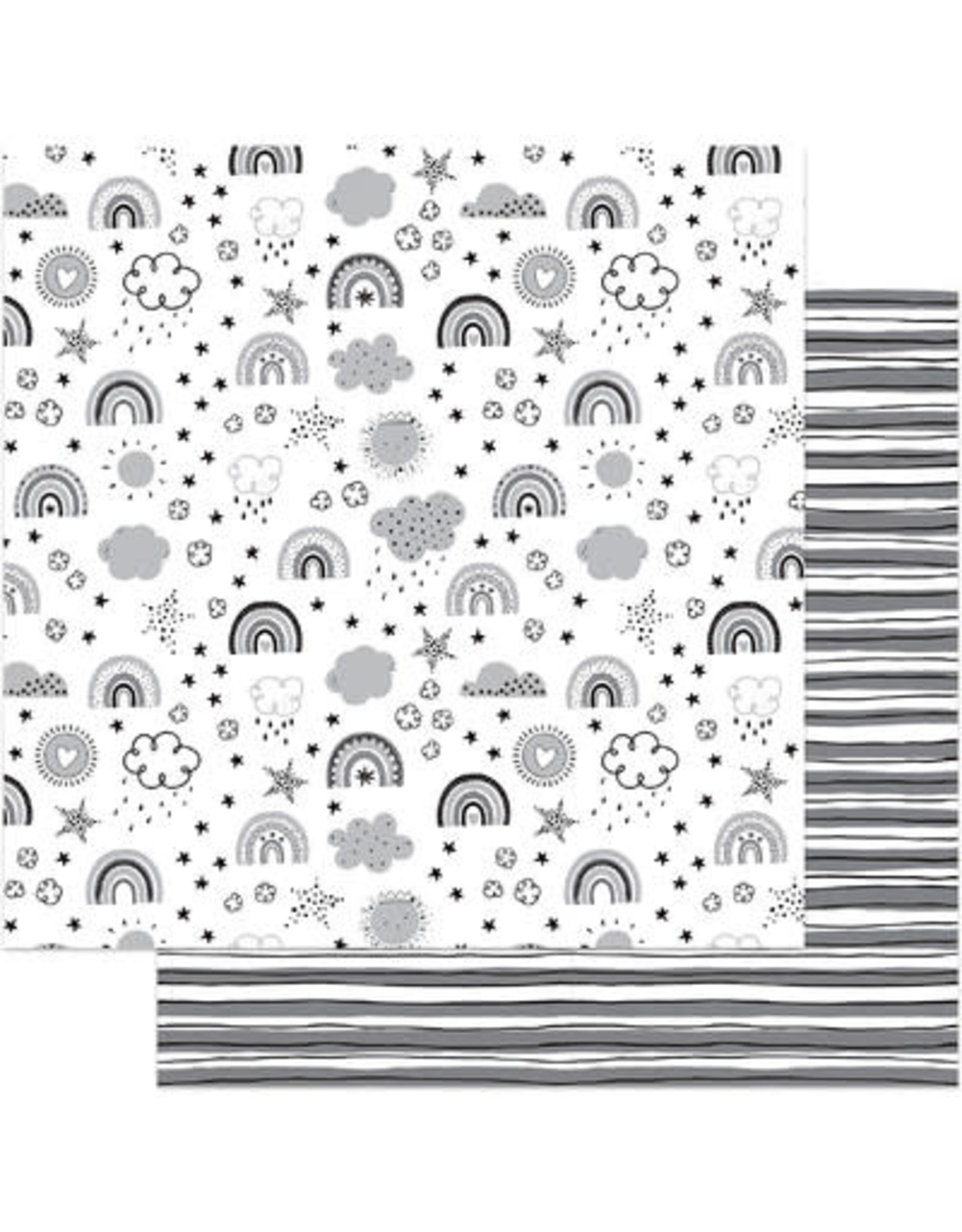 PHOTOPLAY 12X12 Patterned Paper, Little One - Over The Rainbow