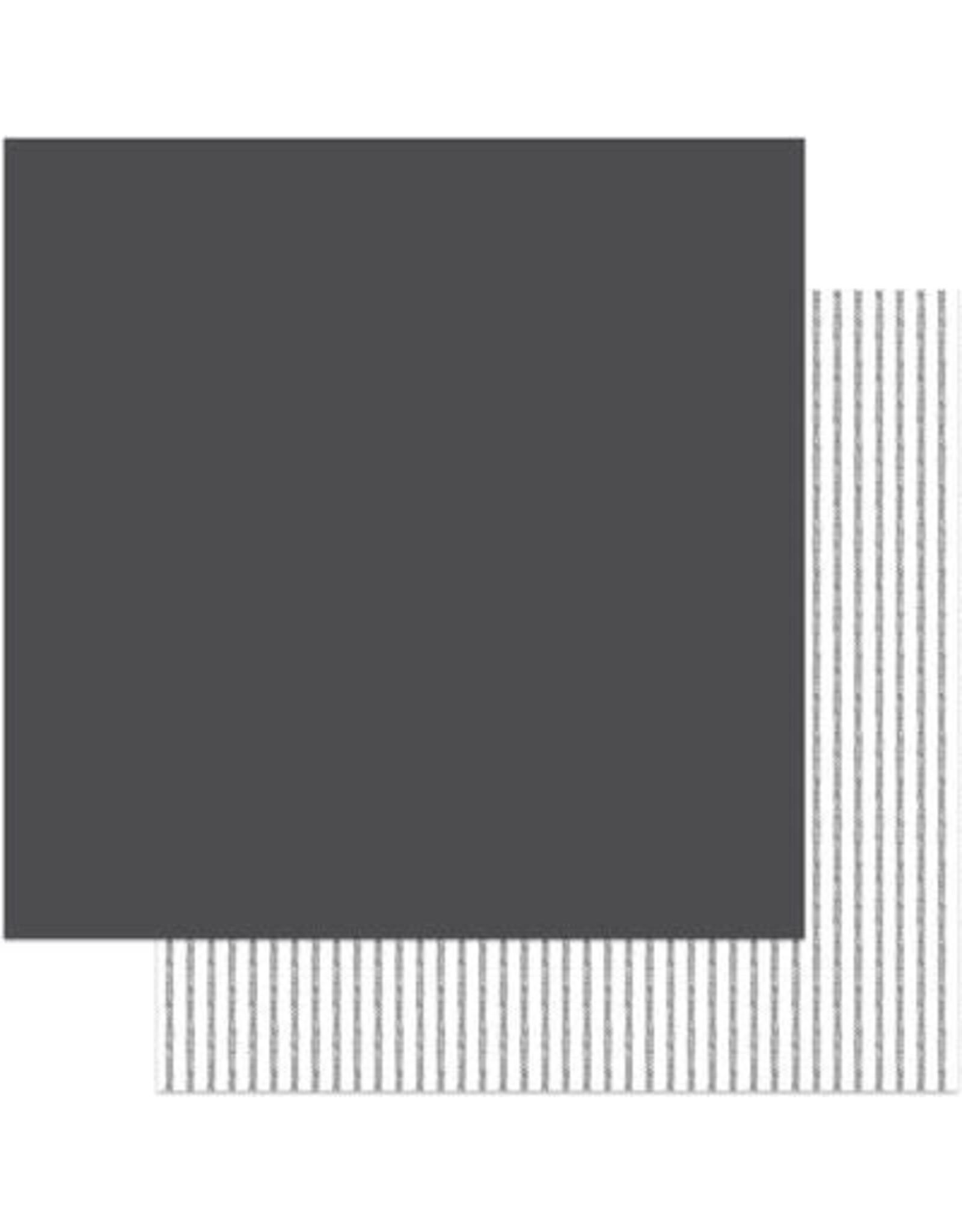 PHOTOPLAY 12X12 Solids+ Paper, Little One - Dark Grey