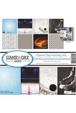 Reminisce 12X12 Collection Kit, Game Day Hockey