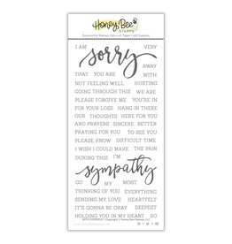 Honey Bee With Sympathy Stamp