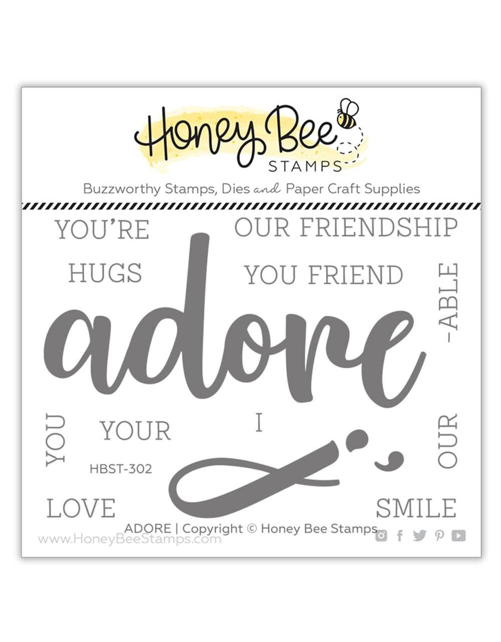 Honey Bee Adore Stamp