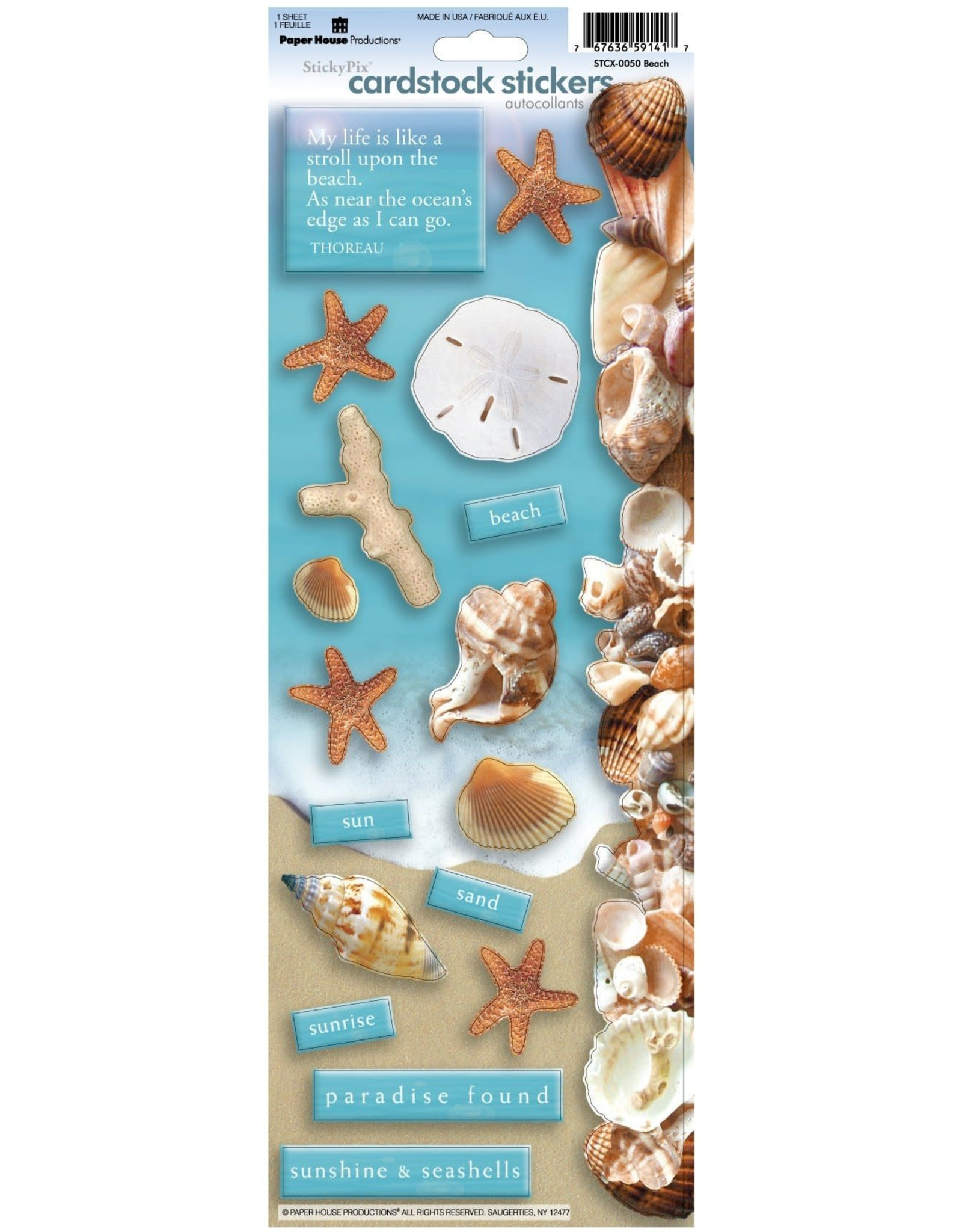 """PAPER HOUSE PRODUCTIONS Beach Cardstock Stickers - 5""""x13"""""""
