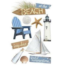 PAPER HOUSE PRODUCTIONS At the Beach - 3D Stickers