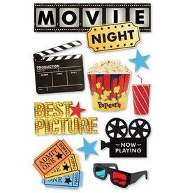 PAPER HOUSE PRODUCTIONS Movie Night - 3D Stickers