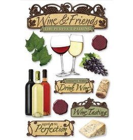 PAPER HOUSE PRODUCTIONS Wine - 3D Stickers