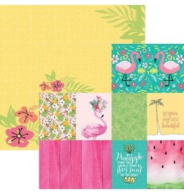 PAPER HOUSE PRODUCTIONS FLAMINGO TAGS DOUBLE SIDED PAPER