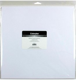 Colorplan White Frost Solid Cardstock 12x12 - 10 sheets