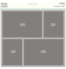 Simple Stories Simple Pages Page Template - Design 1